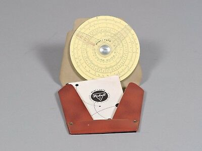 PICKETT Circular Slide Rule Dial Rule 101-C with Case & Instructions from 1957