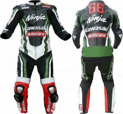 KAWASAKI Motorbike  Leather Suit Motorcycle  Leather Suit Racing sui Riding Suit
