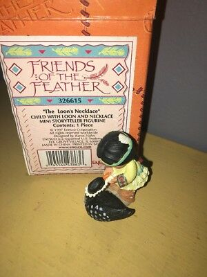 NOS NIB Enesco Friends of the Feather 1997 The Loon's Necklace Figurine 326615