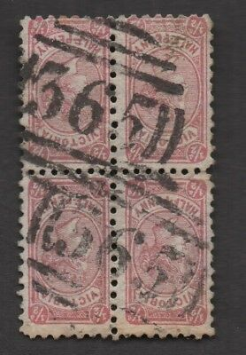 Vic Numeral Cancel #365 of Barfold - Rated S - On Cute Block Of Halfpenny Brown