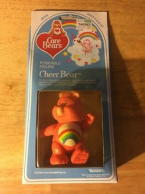 Care Bears Cheer Bear Poseable Figure!! New in Box!!  1982!!
