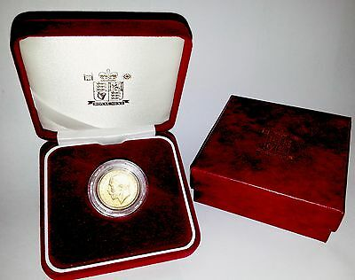 1918 King George V Gold Sovereign + Capsulated within Luxury Case