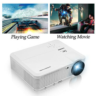 LED Home Theater Projector Multimedia Movie Game Backyard Movie HDMI USB VGA AU
