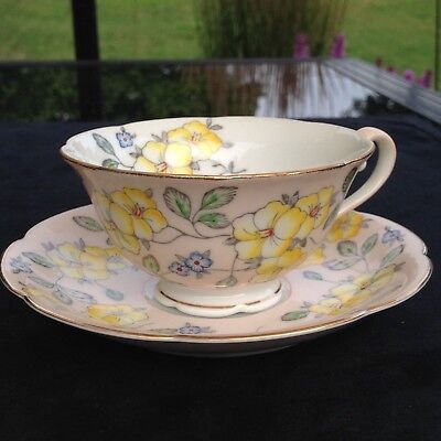 Diamond China made in Occupied Japan Teacup and Saucer Free Shipping