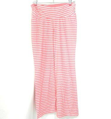 Bump In The Night Size Medium pants Pink White Stripes Maternity Pajamas