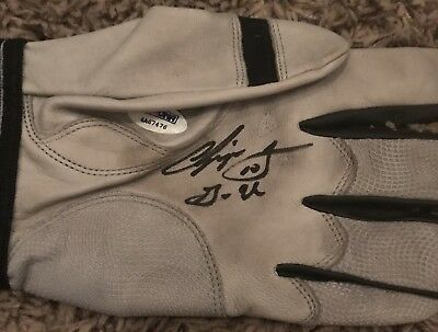 Chipper Jones Atlanta Braves autographed game Issued Batting Glove Psa Coa