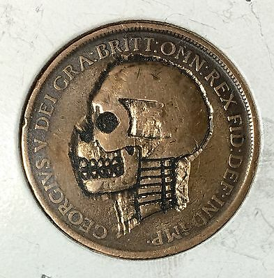 """Terminated""   Hobo Nickel    ***Rev. Tye's Coin Stache***    #HBN3907"