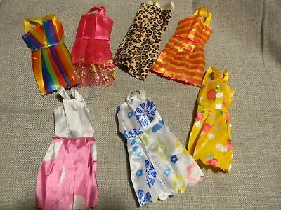 7 Pack Barbie Doll Clothes Party Dress