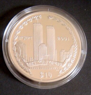 Twin Towers Silver Coin 02 British Virgin Islands 925 Pure Silver Memorial Coin