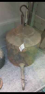 very old cast iron kettle.