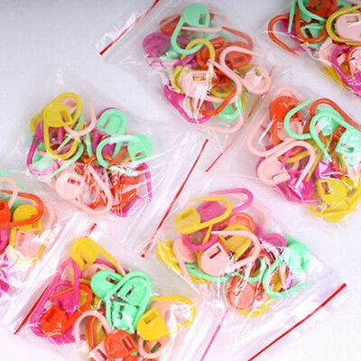 30X Multi-Color Knitting Crochet Locking Stitch Marker Holder Needle Crafts Clip