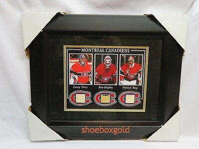 MONTREAL CANADIENS Game-Used Stick Collection Framed Display: PRICE, ROY, DRYDEN
