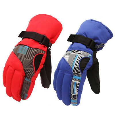 Men's Windproof Winter Warm Fleece Thermal Motorcycle Cycling Ski Snow Gloves