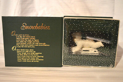 "Dept. 56 Snowbabies ""HOLD ON TIGHT"" MIB WINTER TALES FIGURINE COLLECTIBLE"