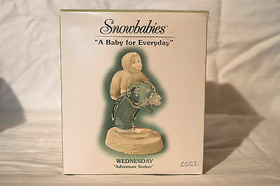 "Department 56 Snowbabies ""A Baby For Everyday"" Wednesday, Adventure Seeker. NIB"