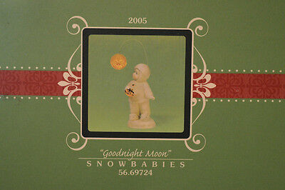 "Department 56 Snowbabies ""GOODNIGHT MOON"".  NIB Figurine 2005 COLLECTIBLE"