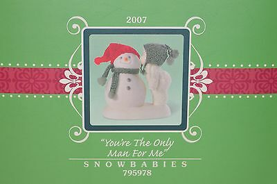 "Department 56 Snowbabies ""You're the Only Man For Me"" 2007 never displayed. NIB"