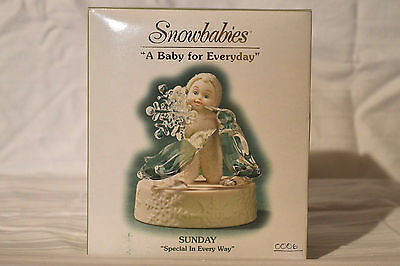 "Department 56 Snowbabies ""A Baby For Everyday"" Sunday,Special In Every Way. NIB"