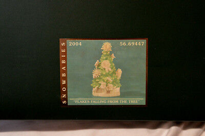"Dept. 56 Snowbabies ""FLAKES FALLING FROM THE TREE"" MIB LIMITED EDITION 2004 NEW"
