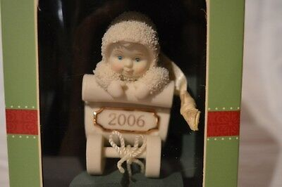 "Department 56 Snowbabies ""Yearly Gift Exchange"" Ornament NIB Figurine 2006"