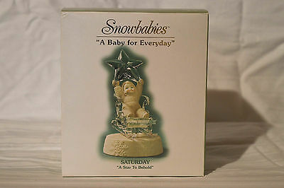 "Department 56 Snowbabies ""A Baby For Everyday"" Saturday, A Star To Behold"". NIB"