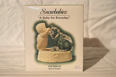 "Department 56 Snowbabies ""A Baby For Everyday"" Thursday, Secret Keeper. NIB RARE"