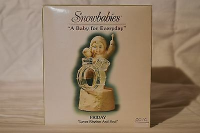 "Department 56 Snowbabies ""A Baby For Everyday"" Friday,Loves Rhythm and Soul.NIB"