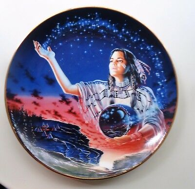 Royal Doulton Franklin Mint Collector Plate *Maiden of the Evening Stars PD3953