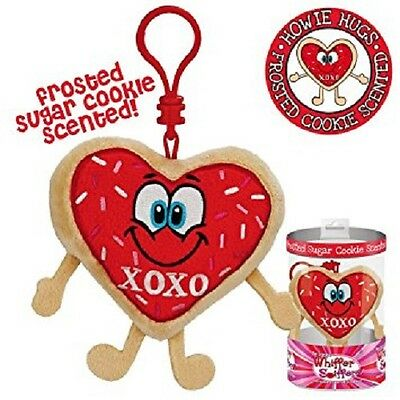 New-Whiffer Sniffers-Howie Hugs-Sugar Cookie Scented-Backpack Clip-Valentine Day