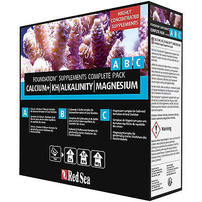 Red Sea Reef Foundation ABC 3x 250mL Complete Reef Supplement Pack FREE USA SHIP