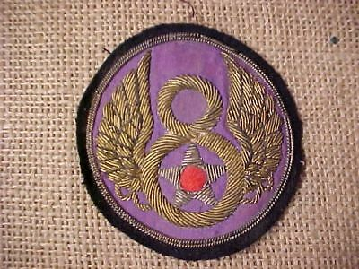 Original Wwii Usaaf 8Th Air Force Theater Made Bullion Patch - Superb !