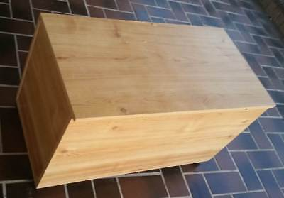 Toy storage blanket box with hinged lid and castors 870 L x 430 W x 470 D