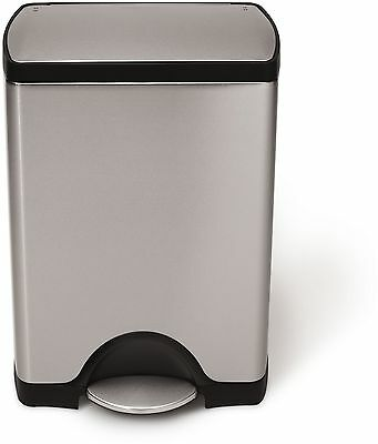 simplehuman 30L Rectangular Pedal Bin - Brushed Steel :The Official Argos Store