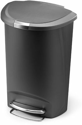 Simplehuman 50 Litre Plastic Semi Round Pedal Bin - Grey :From Argos on eBay