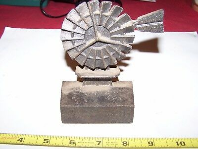 Old Cast Iron Windmill Paperweight Hit Miss Gas Engine Steam Tractor Pump NICE!