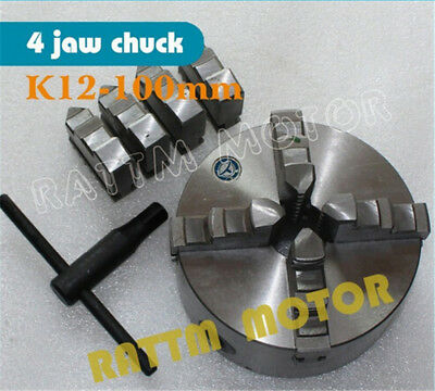 K12-100mm Manual Chuck self-centering CNC Router Machine tool Lathe Chuck+Wrench