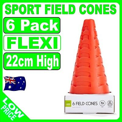 22cm ORANGE CONES SPORTS AGILITY TRAFFIC FIELD ROAD SOCCER RUGBY SCHOOL TRAINING