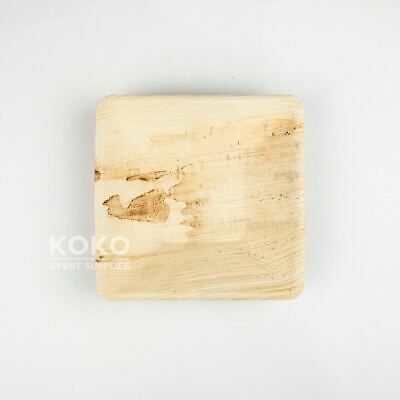 100 X 18cm Square Bowl BIODEGRADABLE PALM LEAF PLATE -  Eco Pine Wood Bamboo