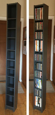 IKEA Benno/Gnedby/Billy CD/DVD tower/Bookcase, slate grey. MELB inner-west