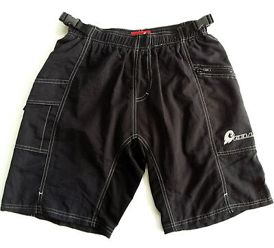 CELL PADDED & LINED MTB SHORTS, mens L, NEW w/ TAGS, rrp $60.00