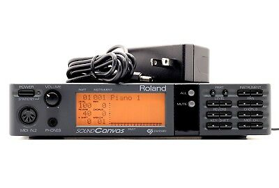 Roland SC-55 w/ AC Adapter(100-240V) New Memory Battery [Excellent+++] F/S