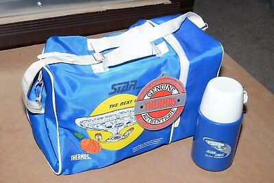 Ultra Rare: NEW 1988 Star Trek Thermos Insulated Lunch tote bag Lunchbox TNG