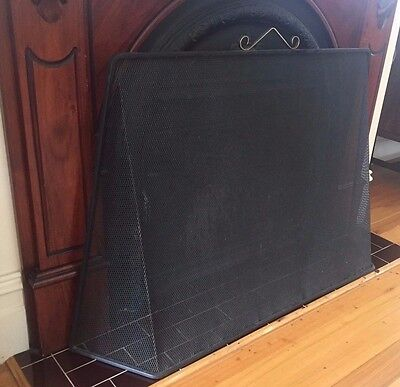 Fire Screen Black wrought Iron Steel Mesh p/up Moonee Ponds 3039