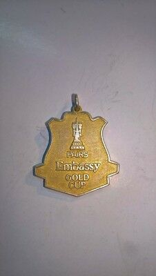 Silver Embassy Gold Cup Darts Badge/Pendent 1999