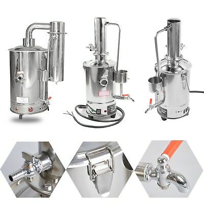 3L-20L New Lab Pure Water Electric Stainless Distiller Moonshine Still Filter