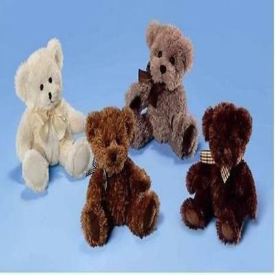 "Russ Berrie Ellsworth 7"" Dark Brown Teddy Bear Gift New"