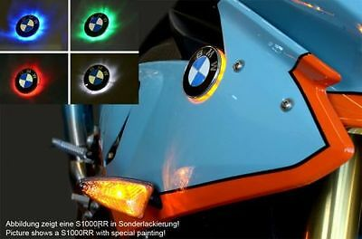 BMW S1000RR BICOLOR LED INTERMITENTE CON EMBLEMA S 1000RR : Blanco/Amarillo