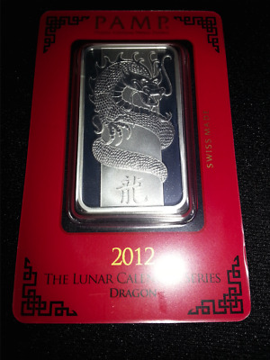 1oz pamp suisse year of the dragon silver bar