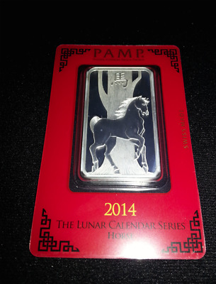 1oz pamp suisse year of the horse silver bar