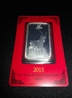 1oz pamp suisse year of the goat silver bar